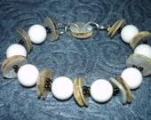 Mother of Pearl Beaded Bracelet Handmade