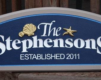 Custom Beach house/Name sign