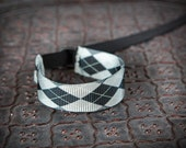 NEW Design Black Gray Argyle Wrist Strap - DSLR Wrist Strap Camera Strap
