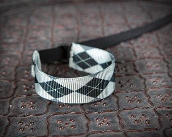 NEW Design Black Gray Argyle Wrist Strap - DSLR Wrist Strap Camera Strap