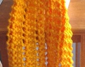 Hand Knit Fancy Goldenrod Scarf