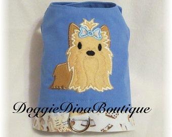 Dog Vest - Yorkie Vest, Dog Harness Vest, Boy Dog Clothes,  for the Boys XS, Small, Medium