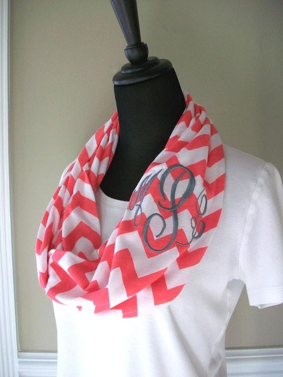 monogrammed chevron infinity scarf custom monogram by maryandlucy