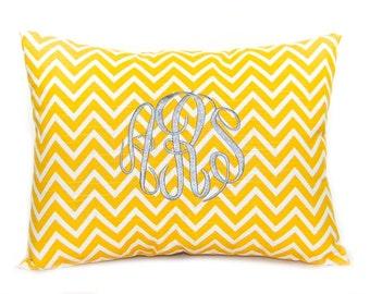 Pillow, Monogram Pillow, Toss Pillow, Decorative Throw Pillow Cover Personalized Home Decor 12 x 16 Baby Gift Dorm Decor