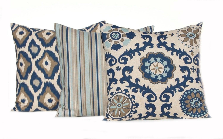 Navy Blue Pillows Linen Pillow Covers Throw Pillow Covers 16