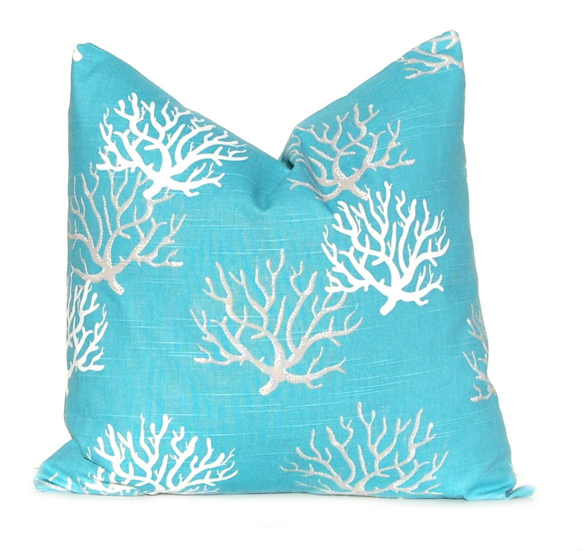 Coastal Decorative Throw Pillows : Decorative Throw Pillow Cover Beach Decor Sea Coral One