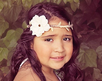 Baby Headband, Baby Halo Headband, Boho Headband, Woodland Headband, Newborn Headband, Vine Headband, Little Diva Boutique, NO.14-21
