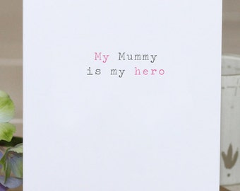 Mother's Day Card - 'My Mummy'