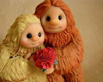 Sasquatch wedding cake topper