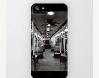 iPhone 7 Case - New York Subway Car 2 - Black and White