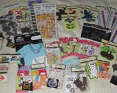 Large lot of Scrapbooking and Craft items, rubber stamps, embellishments, stickers, more