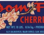 Cherries Cherry Blossoms Vintage Fruit Crate Label Lot Kitchen Art Decor