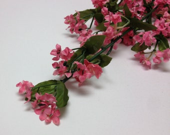 Rose Pink Baby's Breath Spray- Gypsophila - Artificial Flowers, Greenery, Filler