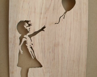 Banksy Girl With Balloon Wooden Stencil