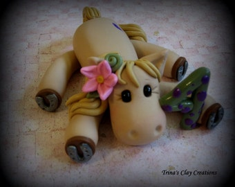 Polymer Clay Horse, Birthday Cake Topper