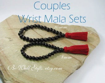 Couples Meditation Wrist Mala Sets, Meditation Focus Jewelry for Couples