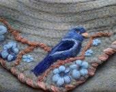 Summer Blue bird  handbag