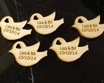 120 Wood Bird Wedding Favors Love Bird Favors