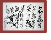 CHINESE CALLIGRAPHY- DON'T cry because it's over, smile because it happened