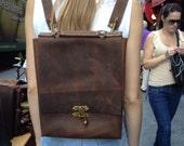 Cody Rucksack / Leather Backpack / Handmade Leather Rucksack / Travel Bag / Custom Leather Bag / Brown Leather Backpack / Rugged Satchel