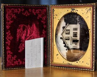 Rare 1850s Daguerreotype of a Haydenville Massachusetts House