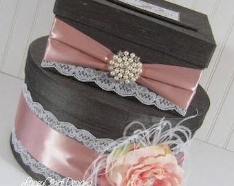 Wedding Card Box Silk Card Holder Lace Reception Money Box Custom Made