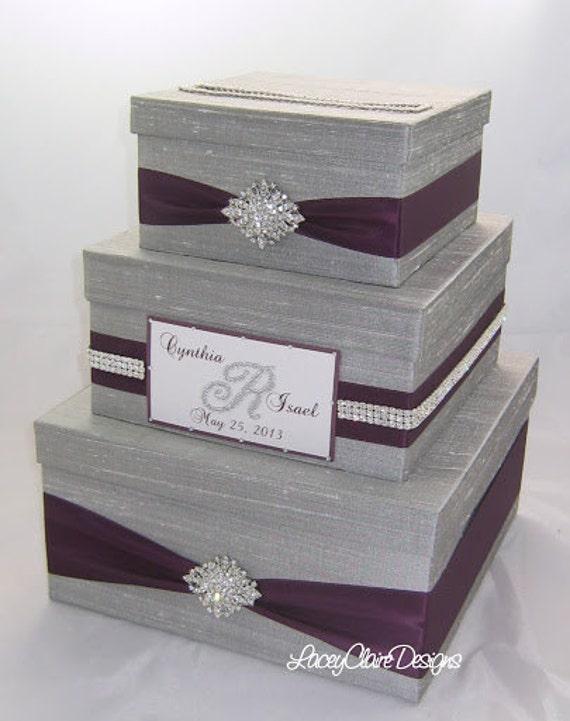 Wedding Gift Box Bling Card Box Rhinestone Money Holder – Gift Card Box Wedding
