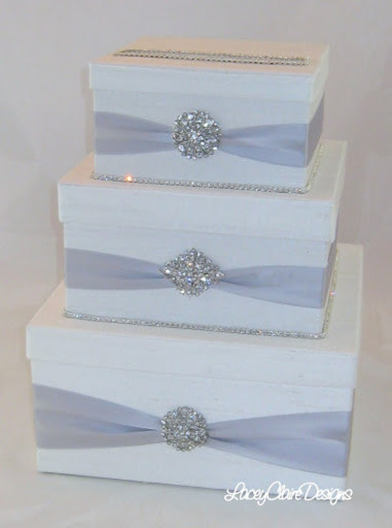 Wedding Gift Card Containers : Card Box, Bling Card Box, Rhinestone Money Holder, Unique Wedding Gift ...