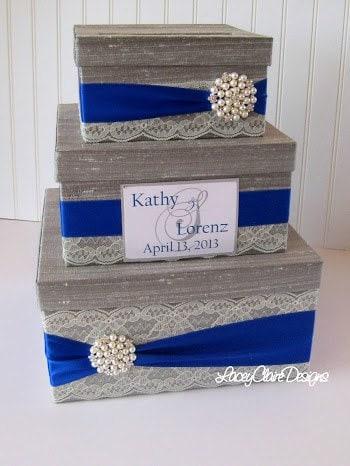 Wedding Gift Money Holder : Wedding Gift Box Card Box Money Holder Custom Made