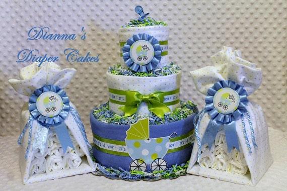 Baby Diaper Cake & 2 Stork Bundles Custom Order for Katina