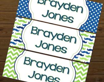 Waterproof Labels, Waterproof Stickers, Name Labels, Dishwasher Safe Daycare Labels, School Labels, Kindergarten Labels, Boy School Labels