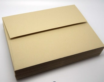 SMOOTH KRAFT Paper Envelopes - A2 - 4.25 x 5.5 - QTY 25 - Wedding Invitation Supply - Wedding Thank you Envelope
