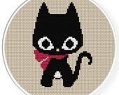 INSTANT DOWNLOAD,Free shipping,Cross stitch pattern, PDF,black cat,zxxc0376