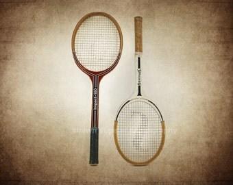 Vintage Tennis Rackets Photo Print, Decorating Ideas, Wall Decor, Wall Art, Game Room, Kids Room, Nursery Ideas, Gift Ideas,