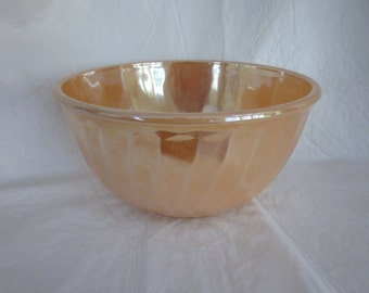 Sale- 20% off=  vintage Fire King copper tint peach lustre mixing bowl