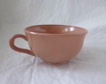 vintage  Hazel Atlas cup in cocoa brown