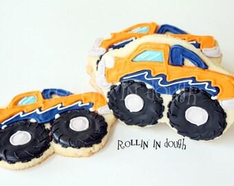 Monster Truck Cookie Favors - 1 Dozen