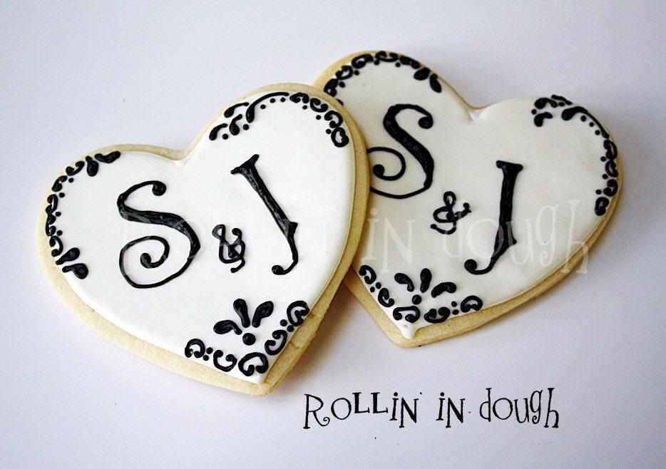 Wedding Cookies Monogram Wedding Cookies Monogram Cookies