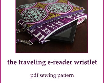 INSTANT DOWNLOAD padded e-reader wristlet PDF sewing pattern