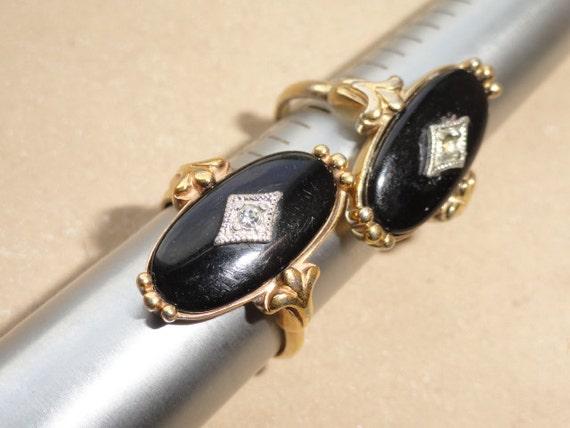 Avon Rings Vintage Black Onyx Rings Ring Bling