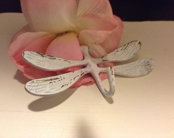 Dragon fly hook / Wall Hook / Wall Hanger / Shabby Chic Hook / Dragon Fly Metal Hook / Metal Hanger