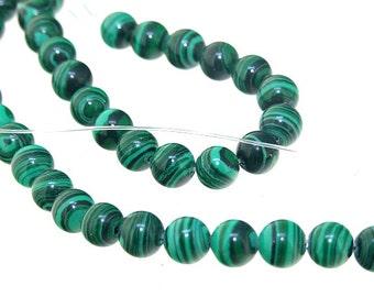 "6mm Round Green Malachite jasper   Malachite Jasper Gemstone Beads Full Strand 15"""