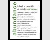 printable digital DIY - abundance mantra - gratitude - 8x10 pdf