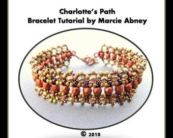 Beadweaving Bracelet Tutorial Beading Jewelry Making Pattern Tutorial Instructions Instant Download La Bella Joya Beads Right Angle Weave