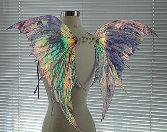 Fairy Wings-Iridescent- Arwen Wings OOAK Fairy Wings Adult Size (Made by Request)