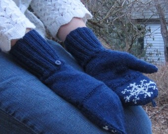 PDF Special Snowflake Mittens Knitting Pattern Instant Download