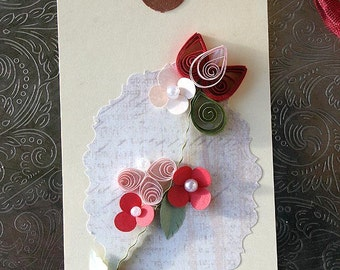 Quilled Valentine Gift Tag