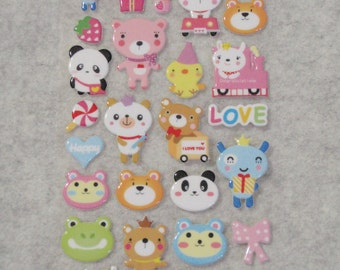 Mixed Cutie Sweet Animals Stickers