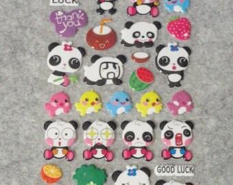 Mixed Cutie Happy Panda Stickers