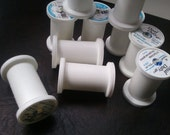 Snap-top Plastic Spools for crafting, mixed media, or storage of your fine lace